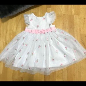 White Floral 18 Months  Baby Girl  Dress